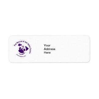 Pug Rescue Logo Purple Label