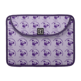 Pug Rescue Logo Purple MacBook Pro Sleeve
