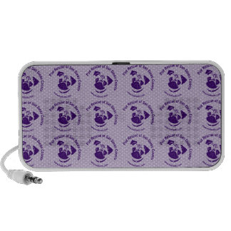 Pug Rescue Logo Purple Notebook Speaker