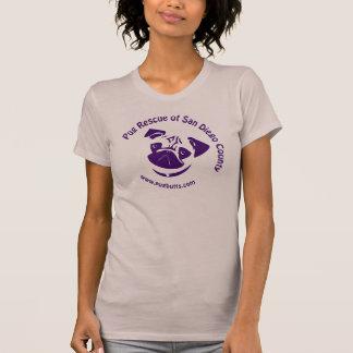 Pug Rescue Logo Purple T-Shirt