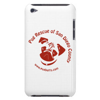 Pug Rescue of San Diego Co. Logo - Red iPod Touch Case-Mate Case