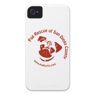 Pug Rescue of San Diego Co. Logo - Red Blackberry Bold Cases