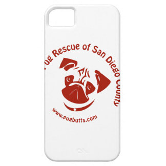 Pug Rescue of San Diego Co. Logo - Red iPhone 5 Cases