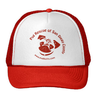 Pug Rescue of San Diego Co Logo - Red Hat