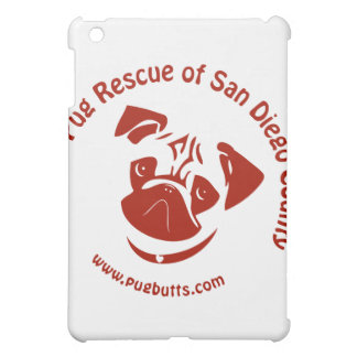 Pug Rescue of San Diego Co. Logo - Red iPad Mini Covers