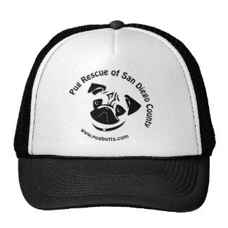 Pug Rescue of San Diego County Logo Trucker Hats