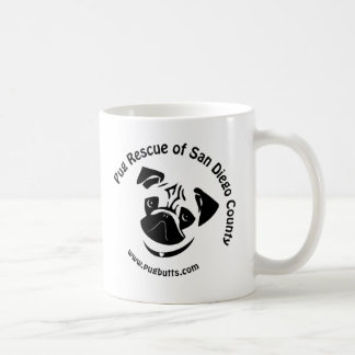 Pug Rescue of San Diego County Logo Classic White Coffee Mug