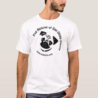 Pug Rescue of San Diego County Logo T-Shirt