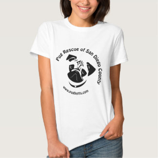 Pug Rescue of San Diego County Logo T Shirt