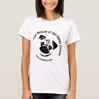 Pug Rescue of San Diego County Logo T-Shirt
