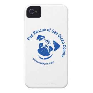 Pug Rescue San Diego County Logo - Blue Blackberry Bold Covers