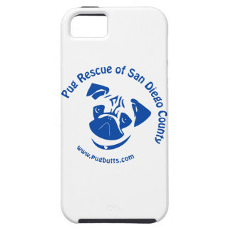 Pug Rescue San Diego County Logo - Blue iPhone 5 Case
