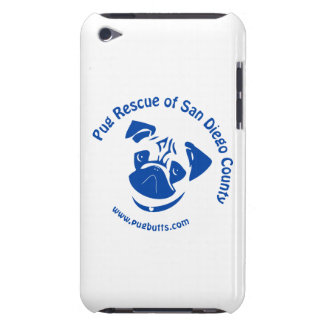 Pug Rescue San Diego County Logo - Blue Barely There iPod Case
