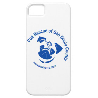Pug Rescue San Diego County Logo - Blue iPhone 5 Cases