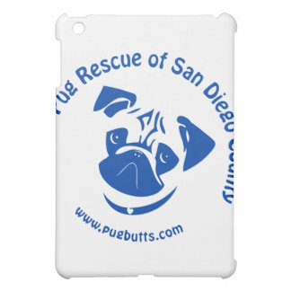 Pug Rescue San Diego County Logo - Blue iPad Mini Covers