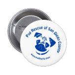 Pug Rescue San Diego County Logo - Blue Pin
