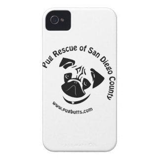 Pug Rescue San Diego Logo iPhone 4 Cover