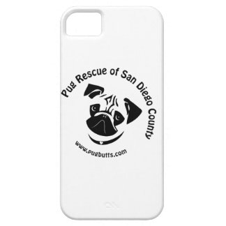 Pug Rescue San Diego Logo iPhone 5 Case