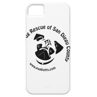 Pug Rescue San Diego Logo iPhone 5 Covers