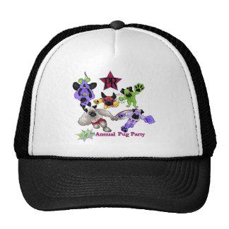 Pug Rescue San Diego Superhero Pugs 2013 Logo 1 Trucker Hats