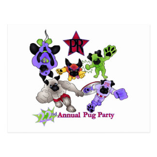 Pug Rescue San Diego Superhero Pugs 2013 Logo 1 Postcard