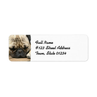 Pug Return Address Mailing Label