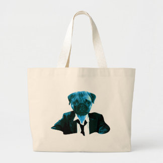 Pug RK work Large Tote Bag
