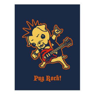 Pug Rock -color Postcard