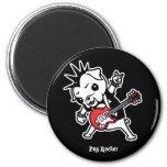 Pug Rocker 2 Inch Round Magnet