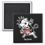 Pug Rocker 2 Inch Square Magnet