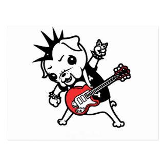 Pug Rocker Postcard