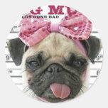 Pug Round Sticker