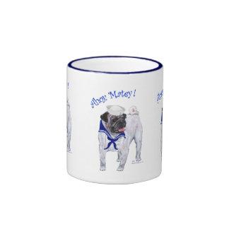 Pug Sailor Coffee Mugs