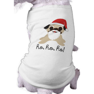 Pug Santa Claus Ho, Ho, Ho! Christmas Dog Shirt