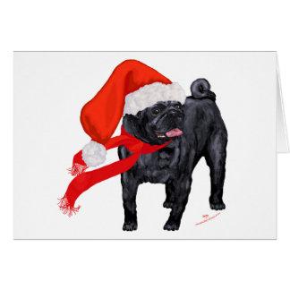 Pug Santa's Helper Card