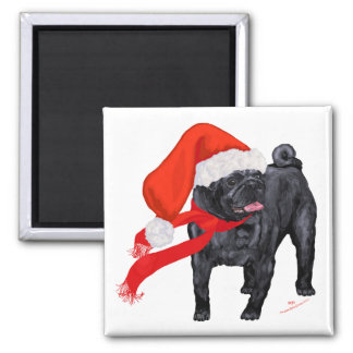 Pug Santa's Helper Fridge Magnets
