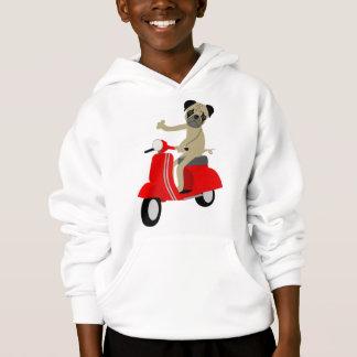 Pug Scooter Hoodie