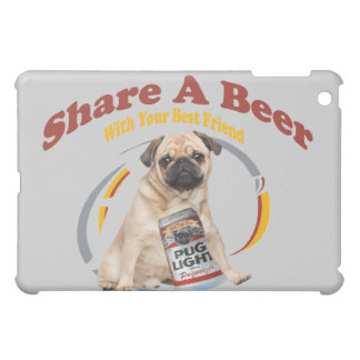 Pug Share A Beer IPAD CASE