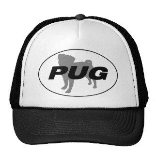 Pug Silhouette Hat