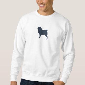 Pug Silhouette Pullover Sweatshirt