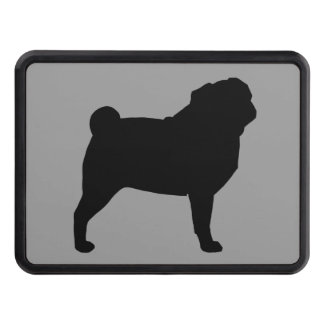 Pug Silhouette Tow Hitch Cover