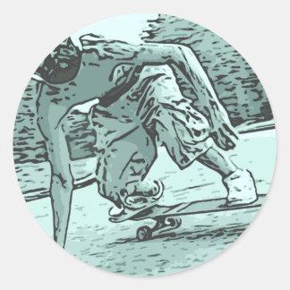 Pug Skater Stickers