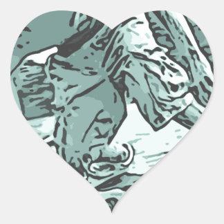 Pug Skater Heart Sticker