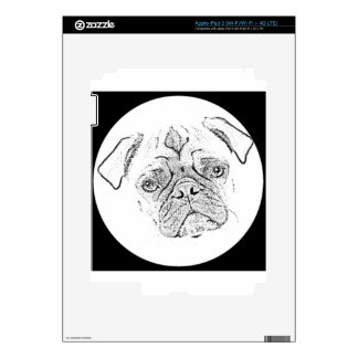 """Pug"" Decal For iPad 3"