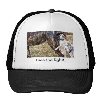 Pug Smelling, I see the light! Trucker Hat