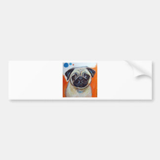 Pug Smile Beauty of Orange Bumper Sticker