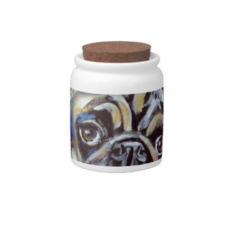 Pug Smile Pop Candy Dishes