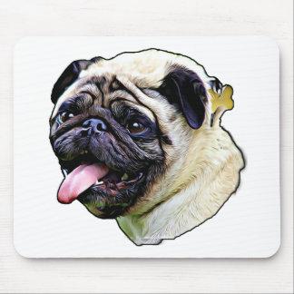 Pug smudge art mouse pad