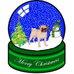 "pug snow globe cutout<br><div class=""desc"">cute holiday ornament</div>"
