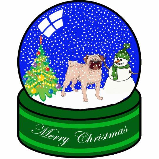 pug snow globe cutout